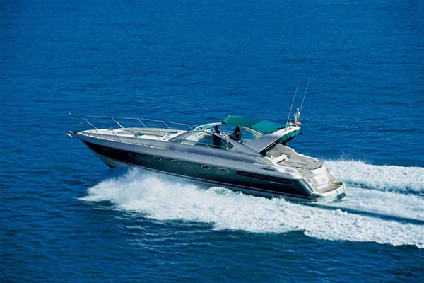 View of Fairline Targa 48. Possible variations in details