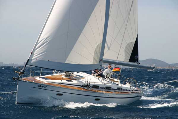 View of Bavaria 40 Cruiser. Possible variations in details