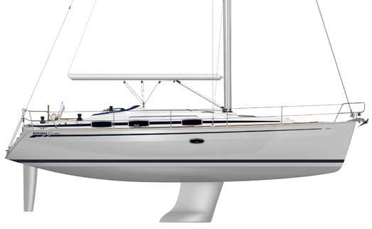 View of Bavaria 37 Cruiser. Possible variations in details