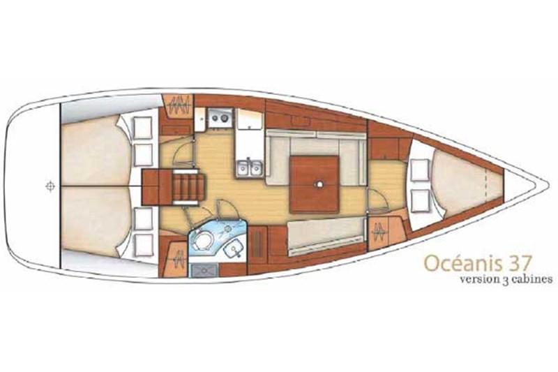 Аренда яхты Oceanis 37 (3Cab)  /2012