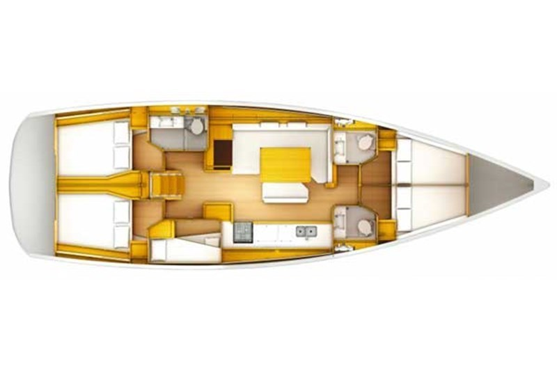 Аренда яхты Sun Odyssey 509 (5Cab)  /2013