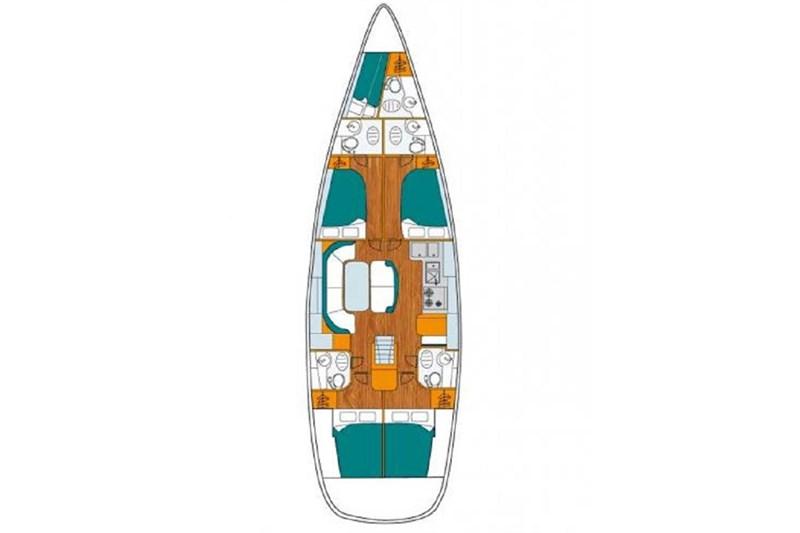 Аренда яхты Beneteau 50 (5Cab)  /2000