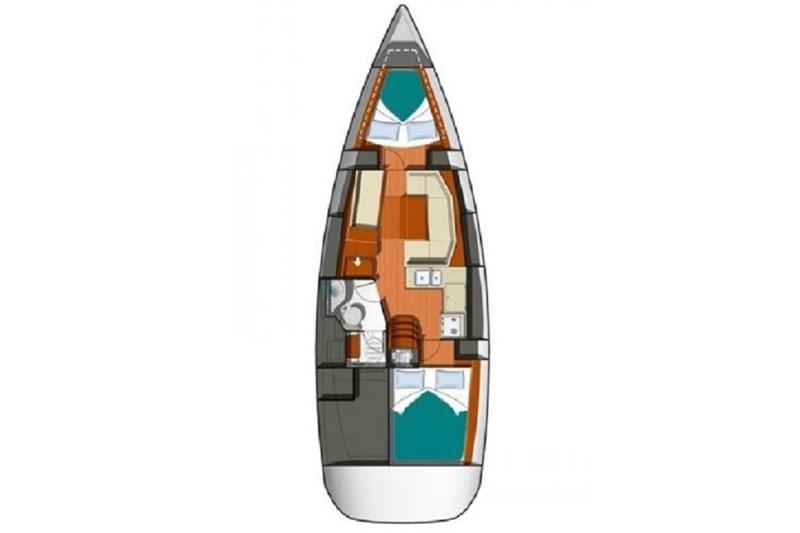 Аренда яхты Sun Odyssey 36i (2Cab)  /2009