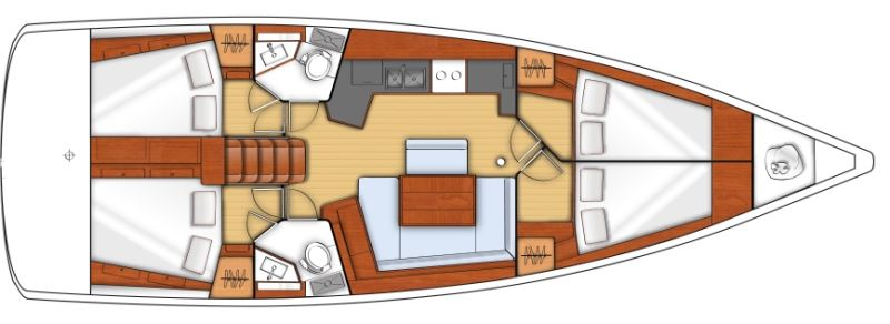 Аренда яхты Oceanis 45 (4Cab)  /2014