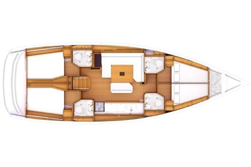Аренда яхты Sun Odyssey 469 (4Cab)  /2014
