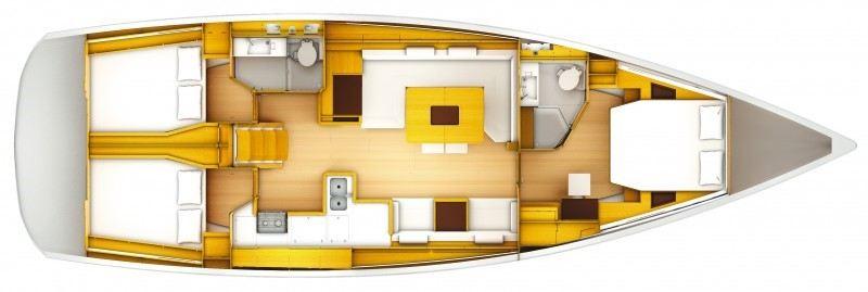 Аренда яхты Sun Odyssey 509 (3Cab)  /2014
