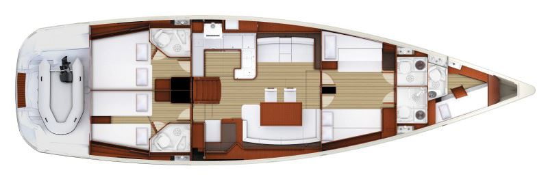 Аренда яхты Jeanneau 57 (5Cab)  /2015