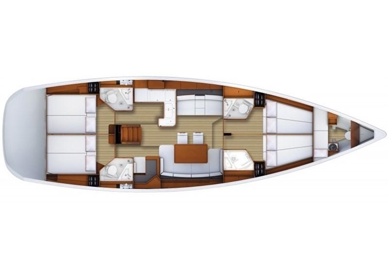 Аренда яхты Jeanneau 53 (4+1cab)  /2010