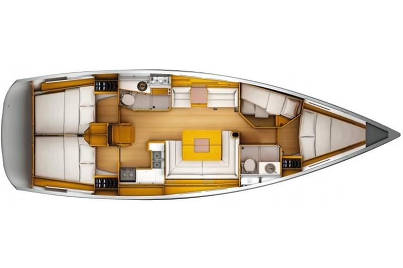 Аренда яхты Sun Odyssey 409 (3Cab)  /2011
