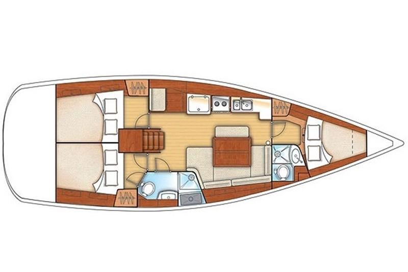 Аренда яхты Oceanis 40 (3Cab)  /2009