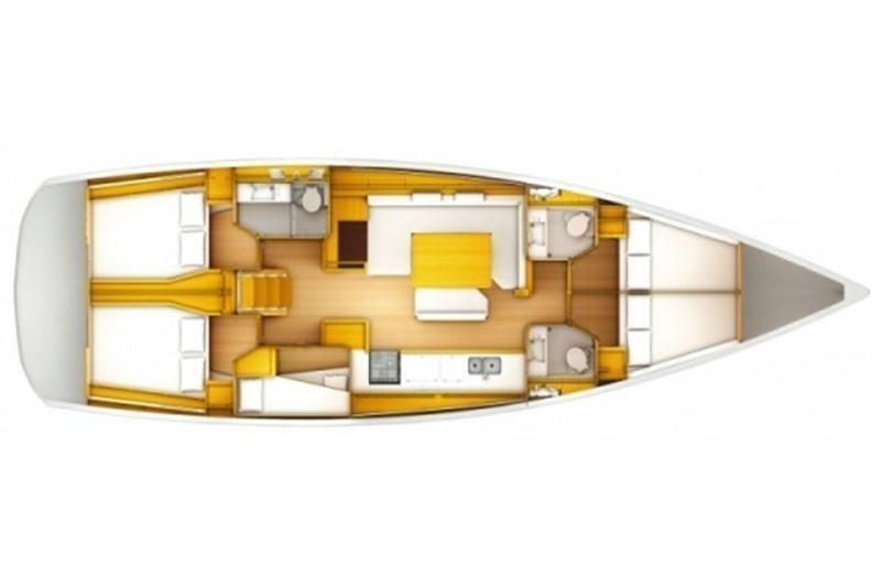 Аренда яхты Sun Odyssey 519 (5Cab)  /2018