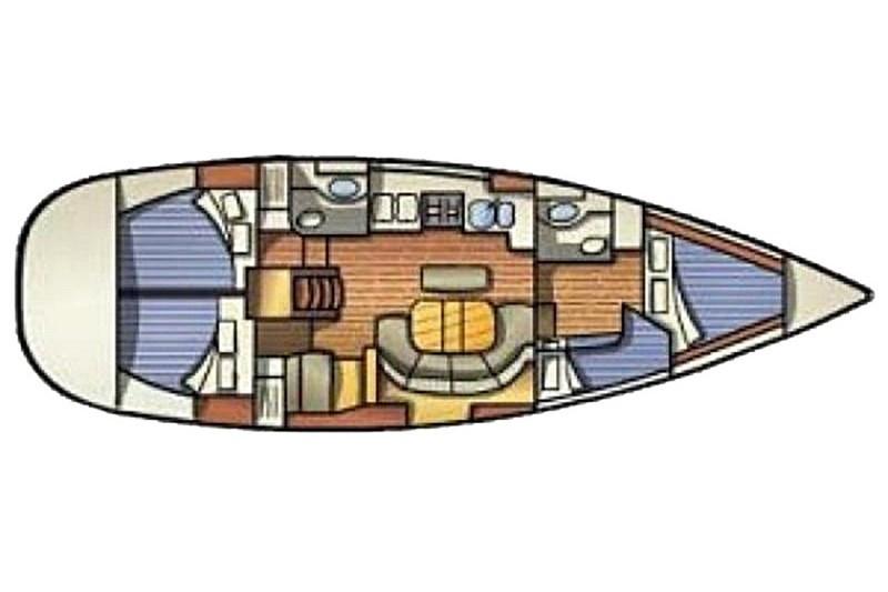Аренда яхты Oceanis 411 (4Cab)  /2001