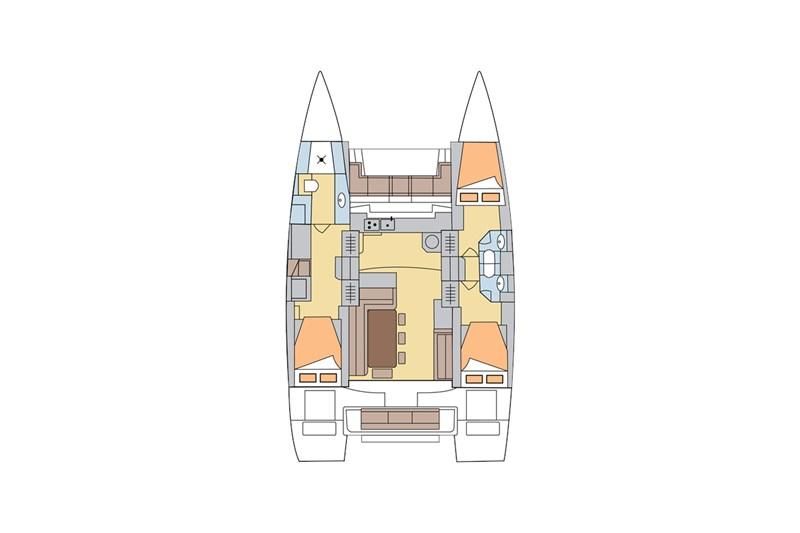 Аренда яхты Bali 4.3 (3Cab)  /2014