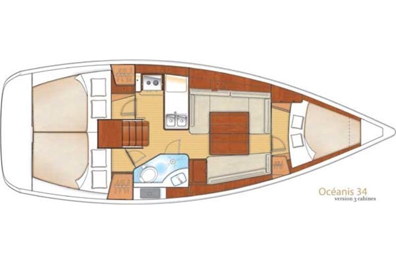 Аренда яхты Oceanis 34 (3Cab)  /2013