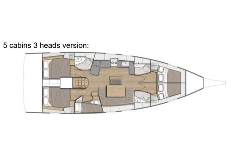 Аренда яхты Oceanis 46.1 (5Cab)  /2020