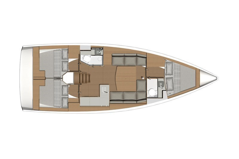 Аренда яхты Dufour 390 Grand Large (3Cab)  /2020