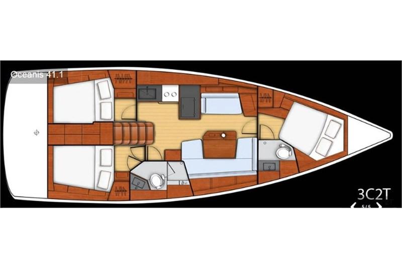 Аренда яхты Oceanis 41.1 (3Cab)  /2020