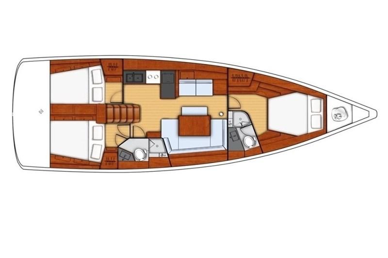 Аренда яхты Oceanis 45 (3Cab)  /2012