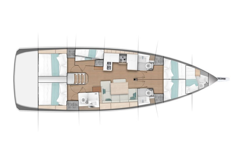 Аренда яхты Sun Odyssey 490 (5 + 1 Cab)  /2020