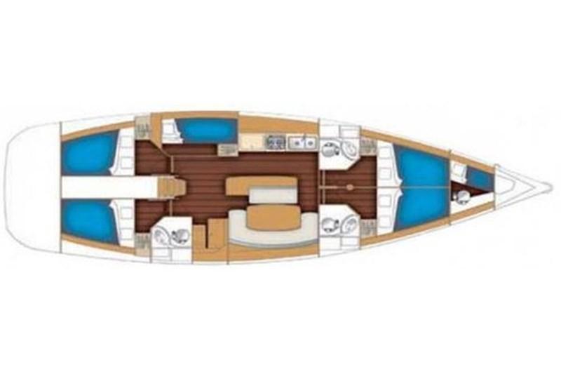 Аренда яхты Beneteau Cyclades 50.5 (5+1Cab)  /2009