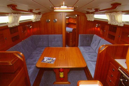 View of Hallberg-Rassy 36 (2Cab). Possible variations in details