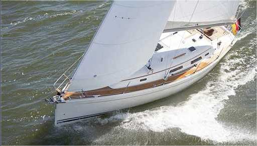View of Hanse 342. Possible variations in details