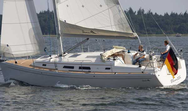View of Hanse 370. Possible variations in details