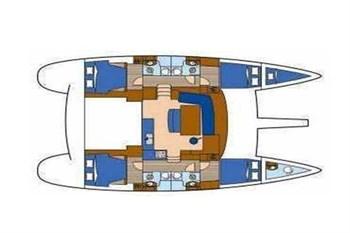 Lagoon 440 (4Cab)  Flybridge