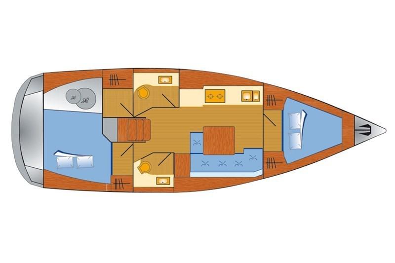 Dufour 382 Grand Large (2Cab)