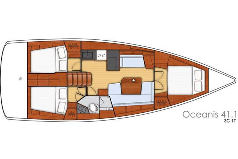 Oceanis 41.1 (3Cab)
