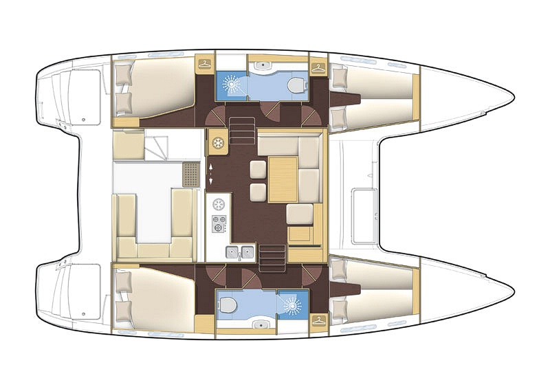 Lagoon 400-S2 (4Cab)