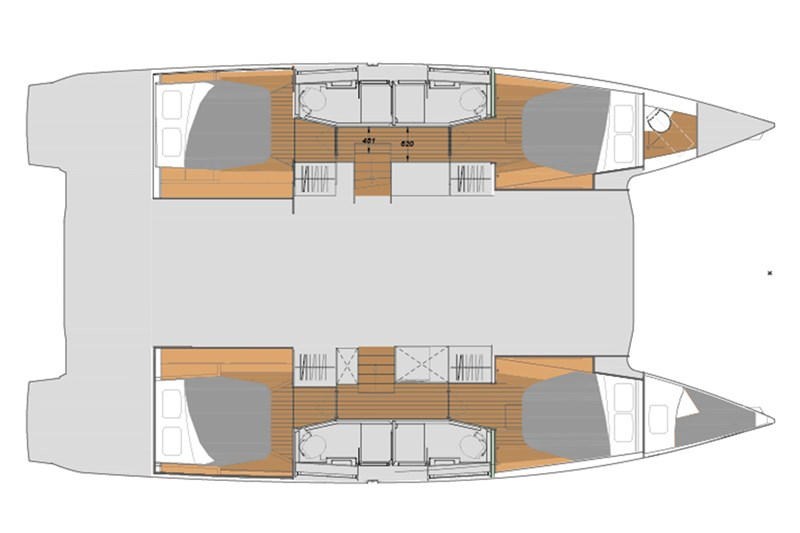 Fountaine Pajot 45 (4cab)